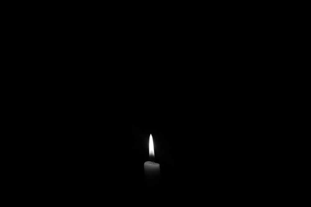 lighted candle